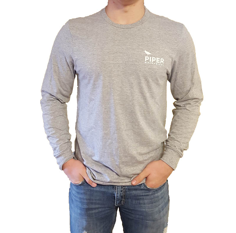 Heather Gray Long Sleeve - Piper Mechanical