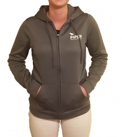 Women's Charcoal Gray Zip Up Hoodie