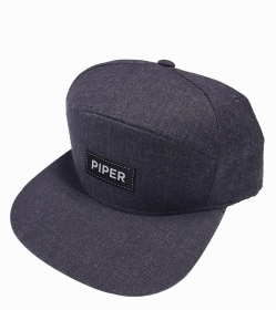 Dark Gray SnapBack with Black Patch