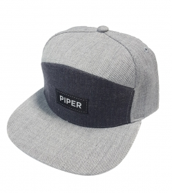 Dark/Light Gray SnapBack with Black Patch