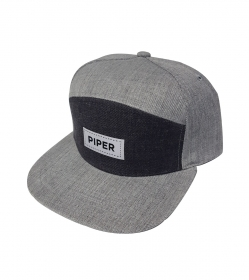 Dark/Light Gray SnapBack with White Patch