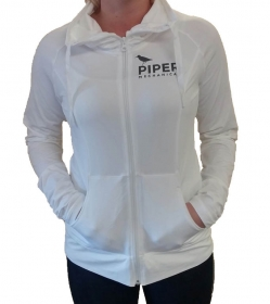 Women's White Sport-wick Stretch Full-zip Jacket