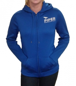 Women's True Royal Zip Up Hooded Sweatshirt